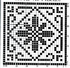 @nika Fillet Crochet, Christmas Crochet Patterns, Lawn Chairs, Tile Patterns, Basket Weaving, Crocheting, Cross Stitch, Artsy, Embroidery