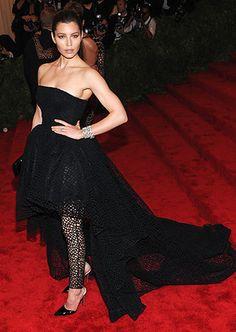 Met Gala 2013  Jessica Biel Punk Couture