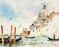 """Venice,"" watercolor by Charles Reid."
