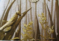 Textile art by Annemieke Mein, beige, brown, realistic, textile artist, Australia, colors, materials, silk, wool, embroidery, cross-linking, 3D, Holland,