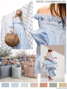 I adore spring fashion trends 7627867154 Spring Fashion Trends, Summer Fashion Trends, Spring Summer Trends, Fashion Fall, Teen Fashion, Fashion Colours, Colorful Fashion, Mode Pastel, Chambray
