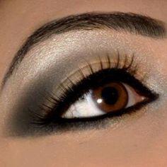 Arabian inspired soft smokey eye
