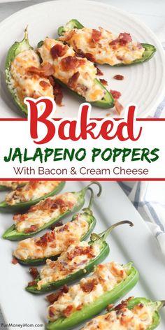 Jalapeno Popper Recipes, Bacon Recipes, Cooking Recipes, Jalapeno Poppers Oven, Cream Cheese Poppers, Pepper Poppers, Milk Recipes, Spicy Recipes, Cooking Tips