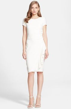 St. John Collection Gathered Luxe Crepe Dress available at #Nordstrom
