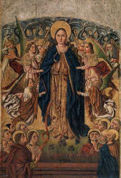 The Assumption of the Virgin / La Asunción de la Virgen // Ca. 1490 // Maestro de las Once Mil Vírgenes // #VirginMary #VirgenMaría