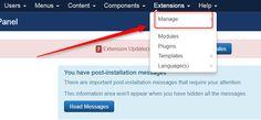 Learn how to update Joomla extensions! #Joomla #update #extension