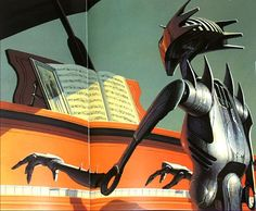 """siryl: """" translucentmind: """" The Robots are Here by Terry Carr // Jack Gaughan """" It's good to see variety in robot art. Retro Robot, Retro Toys, Science Fiction Art, Pulp Fiction, Best Sci Fi Books, Orson Scott Card, Robot Concept Art, Retro Futuristic, Pulp Art"""