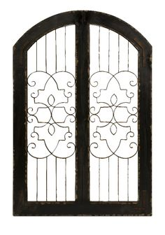 Amelia Victorian Style Scroll Design Gate Iron Wood Home D | Furniture, home decor, wall decor, rugs, lamps, lighting outlet.