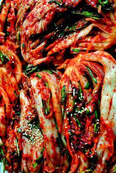 Mangchi's Napa Napa Cabbage Kimchi (Baechu-kimchi). (Photo © Maangchi)