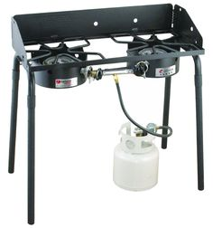 2 Burner Gas Range Outdoor Stove Camping Cooking System Patio Picnic 60,000 BTU #CampChef