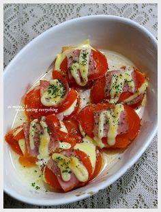 トマトとベーコンのチーズ焼き【トマトたっぷり♪ヘルシー&ビューティーレシピモニター参加中です】 レシピブログ