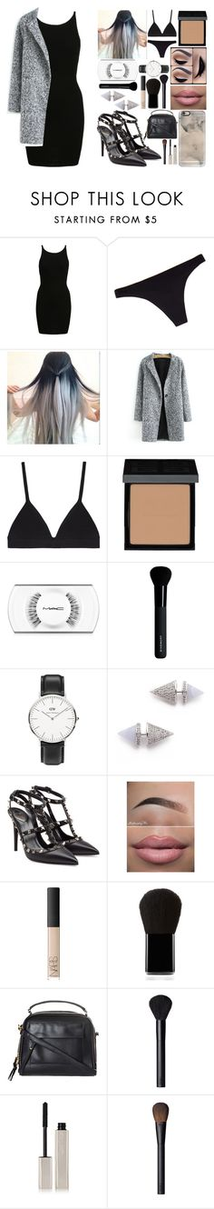 """""""Coming Down"""" by nayde-line ❤ liked on Polyvore featuring Chantelle, Proenza Schouler, Givenchy, MAC Cosmetics, Daniel Wellington, Eddie Borgo, Valentino, NARS Cosmetics, Edward Bess and Topshop"""