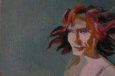 Self-Portrait  Acrylic on cardboard 15x20