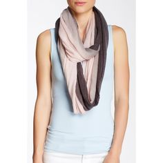 Blue Pacific 2-Color Gauze Infinity Scarf (5.375 HUF) ❤ liked on Polyvore