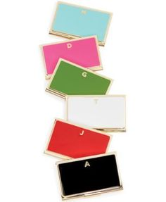 How adorable are these?? kate spade new york One in a Million Initial Business Card Holder Collection | macys.com