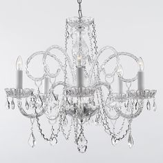 Gallery Venetian Style All Crystal Chandelier | Overstock™ Shopping - Great Deals on Chandeliers & Pendants