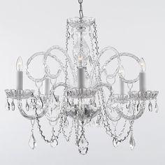Gallery Venetian Style All Crystal Chandelier | Overstock.com Shopping - The Best Deals on Chandeliers & Pendants