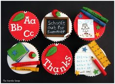 School's out for Summer end of term cupcakes for the teacher