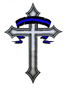 Thin BLUE LINE tattoo