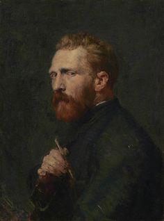 John Russell, Vincent van Gogh, Oil on canvas, x cm. Van Gogh Museum, Amsterdam (State of the Netherlands). Van Gogh Portraits, Van Gogh Self Portrait, Portrait Art, Rembrandt Portrait, Portrait Paintings, Pencil Portrait, Vincent Van Gogh, Van Gogh Museum, Van Gogh Tapete