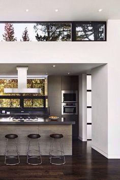 Open concept contemporary interior.