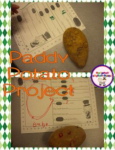 Spring is coming… it is almost here! Daylight saving time just hit (gag) and St. Patrick's Day is THIS WEEKEND. My school kids, my personal kid, and myself will be a little cranky this week as we adjust to this new time.  My kids started their Paddy Potato Project. Here was our start today.  We …