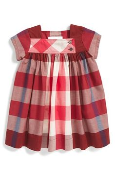 Burberry 'Paisley' Check Cotton Dress (Baby Girls) available at #Nordstrom