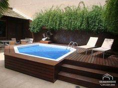 Amazing ideas for small backyard landscaping - Great Affordable Backyard ideas Hot Tub Backyard, Small Pools, Small Backyard Landscaping, Piscina Diy, Small Pool Design, Jacuzzi Outdoor, Backyard Pool Designs, Backyard Ideas, Swimming Pools Backyard
