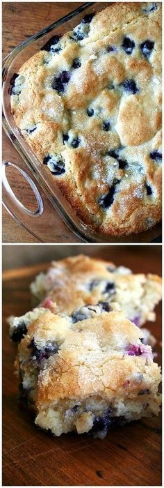 Homemade Buttermilk-Blueberry Breakfast Cake.  This delicious, moist and mouthwatering dish is perfect for a family breakfast! Celebrate that special someone's birthday with this special treat!