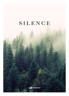 "Tavlor med text | Texttavlor | Posters med citat | Typografi affischer ""Silence"" – Köp på www.justsayin.se"