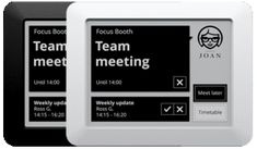 Arrange and block your meeting/huddle room. Using an interactive touch screen makes a booking on the spot or distantly.