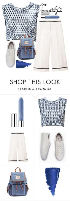"""""""Без названия #71"""" by erohina-d ❤ liked on Polyvore featuring beauty, Clinique, Alaïa, SemSem and GUESS"""