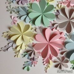 Delightful DIY Paper Flower Wall Art Free Guide and Templates All done with folded hearts! The post Delightful DIY Paper Flower Wall Art Free Guide and Templates appeared first on Paper Diy. Paper Flower Wall, Paper Flower Backdrop, Giant Paper Flowers, Diy Flowers, Folded Paper Flowers, Dahlia Flowers, Paper Rosettes, Flower Fabric, Diy Paper