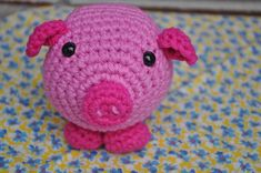 Pink pig crochet tutorial