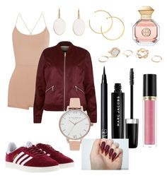 """Untitled #177"" by sdesir on Polyvore featuring Valentino, adidas, River Island, GUESS, Olivia Burton, NARS Cosmetics, Marc Jacobs, Revlon and Tory Burch"