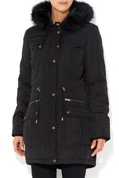 Black Parka Coat  #MyChristmasStory