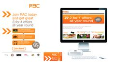 TLC worked with RAC to provide new members with year long 2for1 offers.