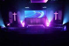 Uses ball pit balls from a children's play pit. Stage Set Design, Church Stage Design, Church Backgrounds, Church Interior Design, Outdoor Stage, Stage Decorations, Stage Lighting, Kids Church, Church Ideas