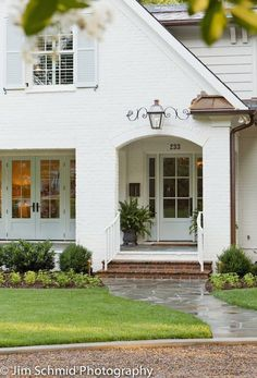 image via Aren't these homes stunning? White houses are my favorite. Our old home was a white clapboard Colonial and I just adore...