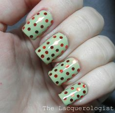The Lacquerologist: Holiday Nail Art: Funky Christmas Disco Balls!