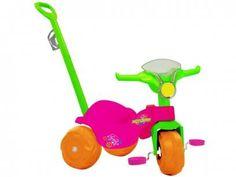 Triciclo Infantil com Empurador Bandeirante - Motoban Passeio com as melhores condições você encontra no Magazine 233435antonio. Confira!