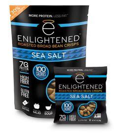 Sea Salt Roasted Broad Bean Crisps. by Enlightened. Vegan