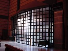 Infissi in alluminio con vetri satinati
