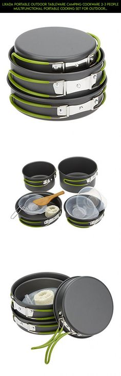 Lixada Portable Outdoor Tableware Camping Cookware 2-3 People Multifunctional Portable Cooking Set for Outdoor Stove #parts #ware #drone #racing #technology #plans #fpv #cooking #products #shopping #outdoor #tech #gadgets #kit #camera