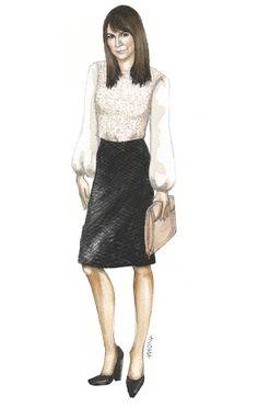 Nicole Chavez (estilista) en la ilustración de moda Chloe por Anoma Paleebut