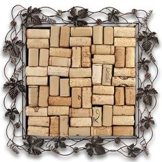 Cork Collector's Tray is a unique diy wine cork tray kit that can be used as a cork trivet, a cork serving tray or a cork bulletin board.