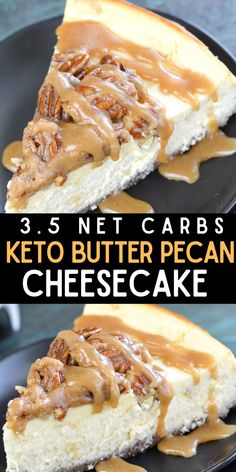 No Carb Recipes, Healthy Low Carb Recipes, Low Carb Keto, Low Carb Deserts, Low Carb Sweets, Keto Cake, Keto Cheesecake, Butter Pecan Cheesecake Recipe, Brownies