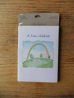 Sale  8 Vintage Hallmark Rainbow A New Address by michiegoodsny