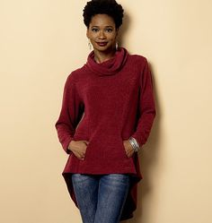 """Butterick 6248 - Nice winter top and flattering for """"tummy fluff"""""""