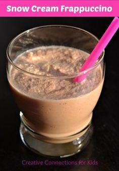 Snow Cream Frappuccino - it is so yummy!